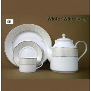 Porcelain Coffee Set - Winter Wind Ivory