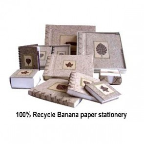 100% Recycle Banana Paper Stationery