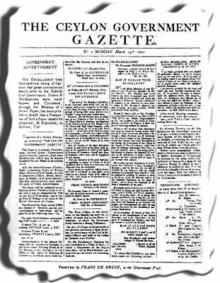 The Sri Lanka Gazette