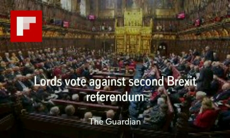 Peers vote against referendum at end of divorce talks but are set to back call for meaningful vote on deal