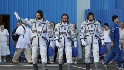 Three-man Crew Reaches Space Station as US Boosts Research