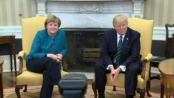 Trump-Merkel Talks Ease Concern About Trans-Atlantic Rift