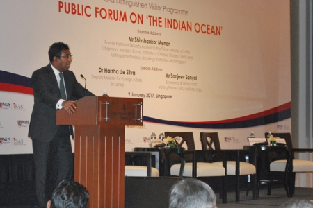 Harsha speaks of Indian Ocean potential at Singapore Uni.