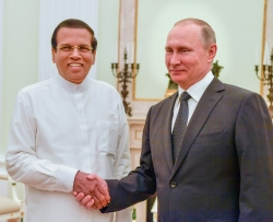 President Putin extends support to President Sirisena's policies