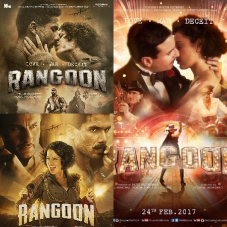 'Rangoon' posters: It's love in the time of war for Shahid Kapoor, Saif Ali Khan and Kangana Ranaut