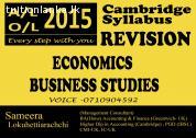 CIE A/L-2015 REVISION Economics & Business Studies @ Yakkala