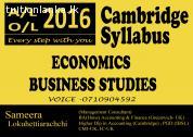 Cambridge A/L Economics & Business Studies @ Yakkala