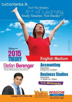 A/L English Medium Business Studies @ Wisdom Kandy