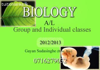 A/L Biology Classes @ Kandy