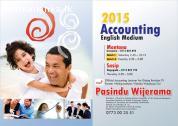 2015 A/L Accounting English Medium Classes @ Montana,Gampaha