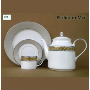 Porcelain Coffee Set - Platinum Mix