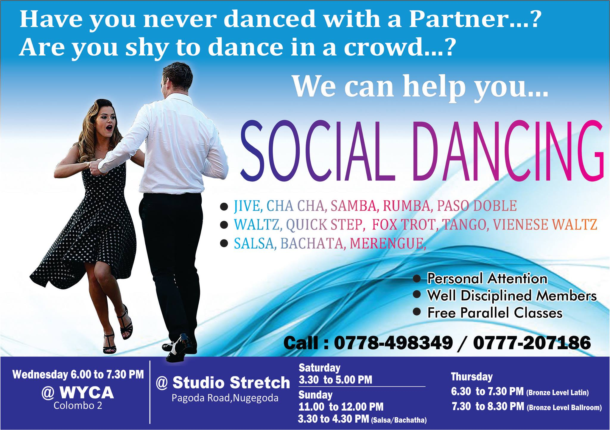 Wedding First Dance Training /Social Dance Classes