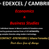 Group classes for Business Studies, Economics for Edexcel & Cambridge
