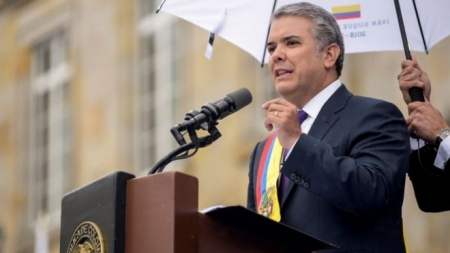Iván Duque: Colombia's new president sworn into office