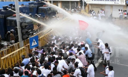IUSF protesters teargassed
