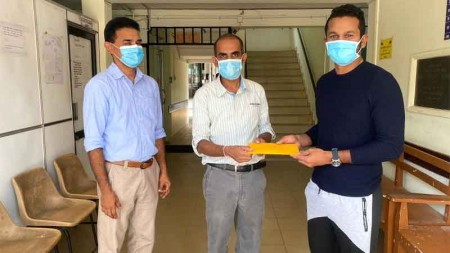 Sri Lanka cricket team continues its support to tackle Covid-19 pandemic