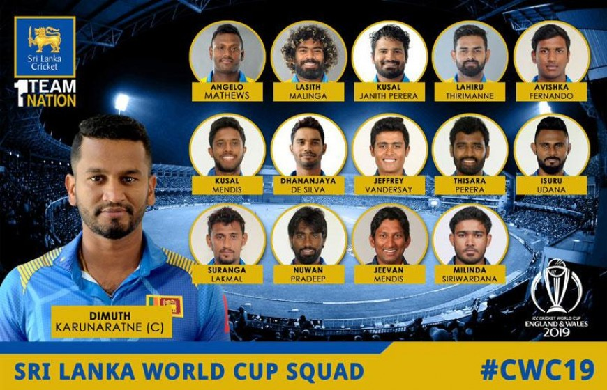 Sri Lankan World Cup squad announced