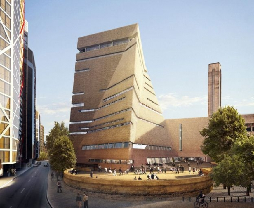 Tate Modern shows off new pyramid tower
