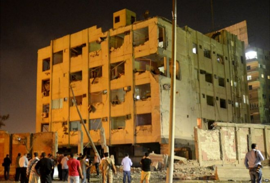 Egyptian security building in Cairo rocked by bomb blast