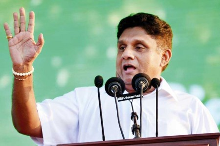 Minister Sajith starts his run for presidency at a mammoth rally in Galle Face