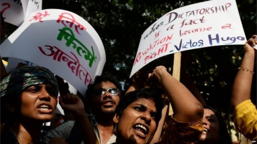 India film institute defends arrests of students
