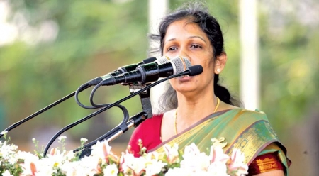 VIJAYAKALA UNDER FIRE FOR LTTE REMARKS; HAILED AS HERO IN JAFFNA